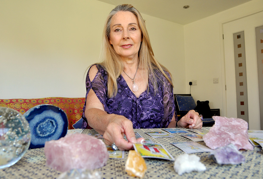 Internationally renowned psychic medium Joy Dalton will be offering Tarot and psychic readings at the Fair.