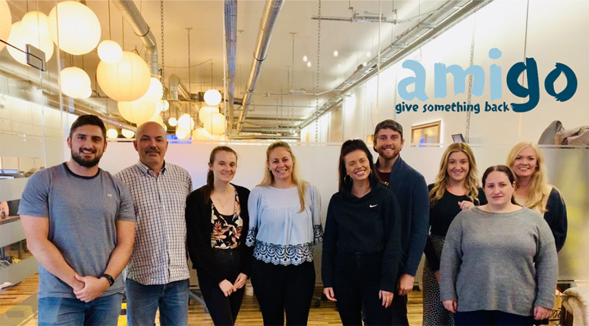 CHARITY DONORS – Staff members at Amigo Loans in Bournemouth are helping Dorset Cancer Care Foundation (DCCF) to continue to support local patients through the pandemic.