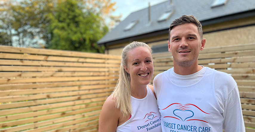 Joe Murgatroyd and his partner Lily Stickland are running the Bournemouth Half Marathon for Dorset Cancer Care Foundation (DCCF) after the local charity stepped in to support them financially during Joe's cancer treatment.